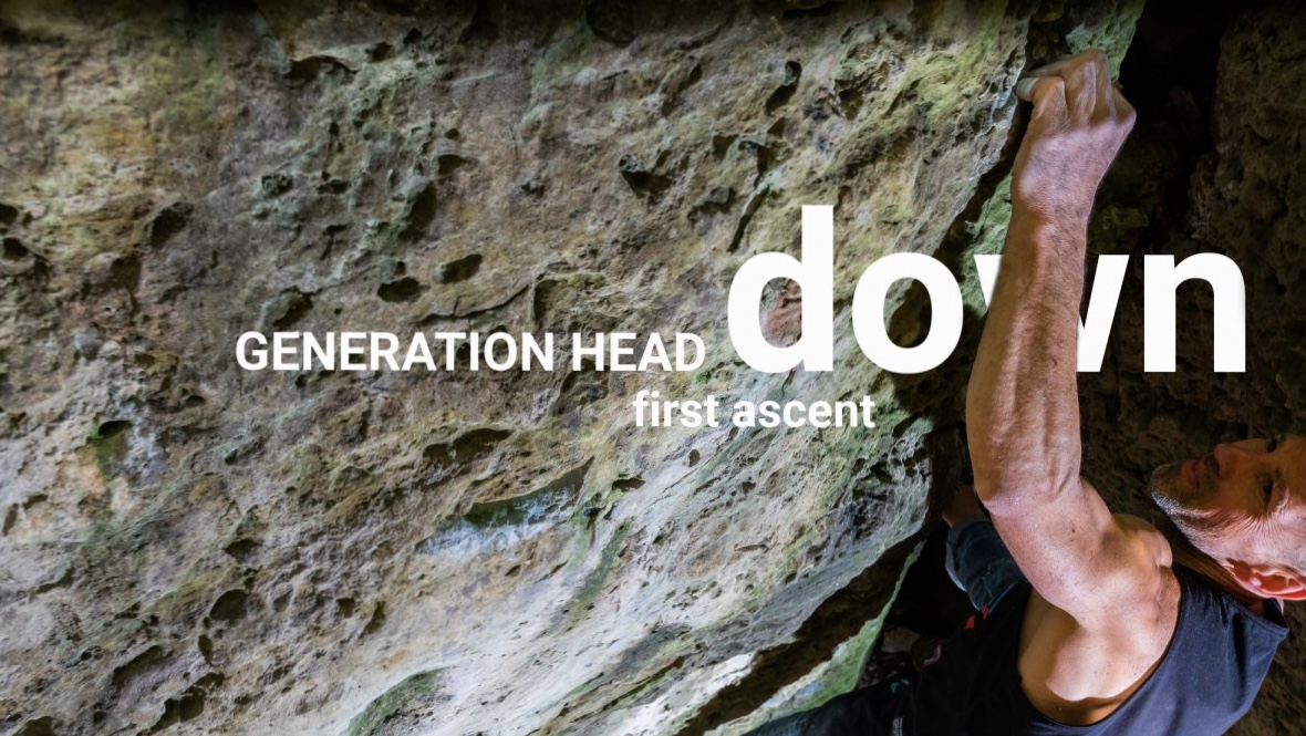 "Maik Urbczat bouldering in ""Generation-Head-Down""- Picture-Urbczat"